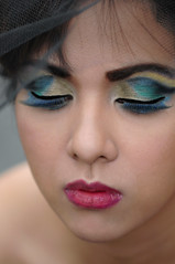 Pam's World (joelCgarcia) Tags: portrait glamour dof eyelashes bokeh sb600 makeup cls d300 ayalaalabang 105mmf28gvrmicro strobist nikkor105mmf28gvrmicro carisseescueta