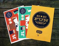 Envelope and Pre-Assembled Fun Slingers (alexwestgate) Tags: illustration design packaging branding papertoy