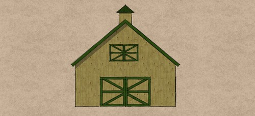 24'x30' Gable Barn front