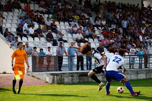 Jogo de futebol entre Amarante e Famalicão