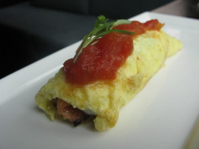 Salmon omlette by Caroline on Crack