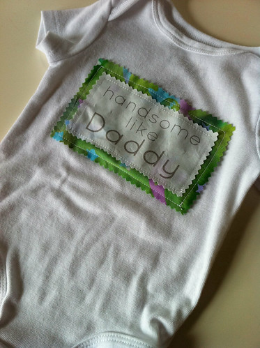 made a little patch and sewed it onto a onesie for my soon-to-be-born nephew