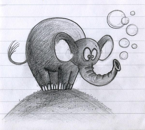 ElephantBlowingBubbles