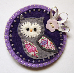 owl brooch (buttercup boutique) Tags: handmade brooch felt textile owl