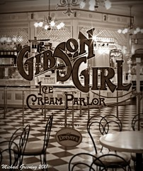Memories... [Explore #140] (Ring of Fire Hot Sauce 1) Tags: window sepia night antique disneyland icecreamparlor mainstusa gibsongirl canont1i