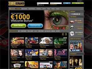 EuroGrand Casino Home
