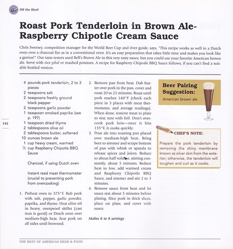 Roast Pork Tenderloin in Brown Ale