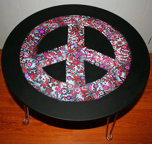 "Coffee Table/ Accent Table 24"" Round by Rick Cheadle Art and Designs"