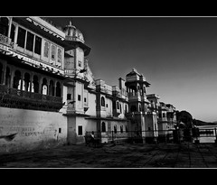 I'll stand by you.. till eternity! (PNike (Prashanth Naik)) Tags: bw india white lake black building water birds architecture flying blackwhite nikon king fort pigeon flight palace rajasthan udaipur maharaja d7000 pnike