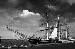 The Star of India (Images by Laszlo) Tags: ca blackandwhite bw usa monochrome sandiego embarcadero tallship sailingship starofindia chinaclipper clippership niksilverefex nikon18105mm nikond300s
