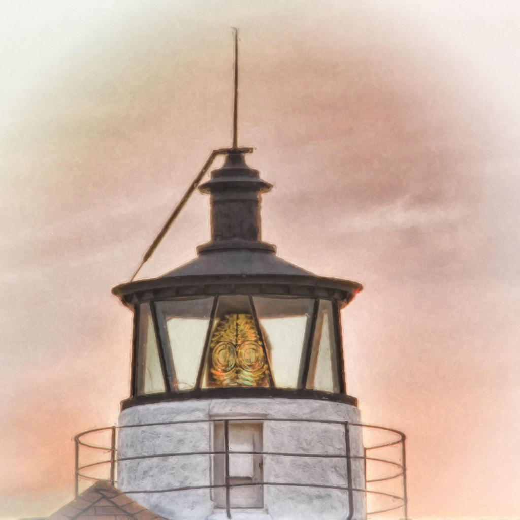 Cove Point Lighthouse Cupola Watercolor