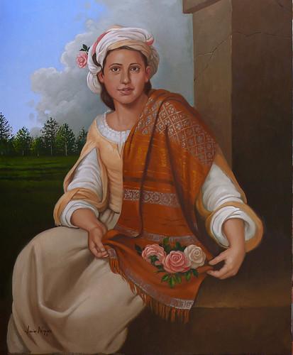 La niña de las flores (Bartolomé Esteban Murillo)  by J.nogues