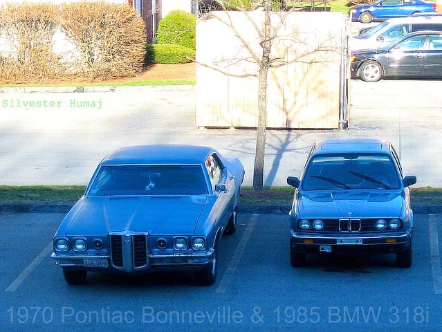 door old school classic hardtop sedan antique 4 german american bmw pontiac 1970 1985 bonneville e30 455 5speed 318i