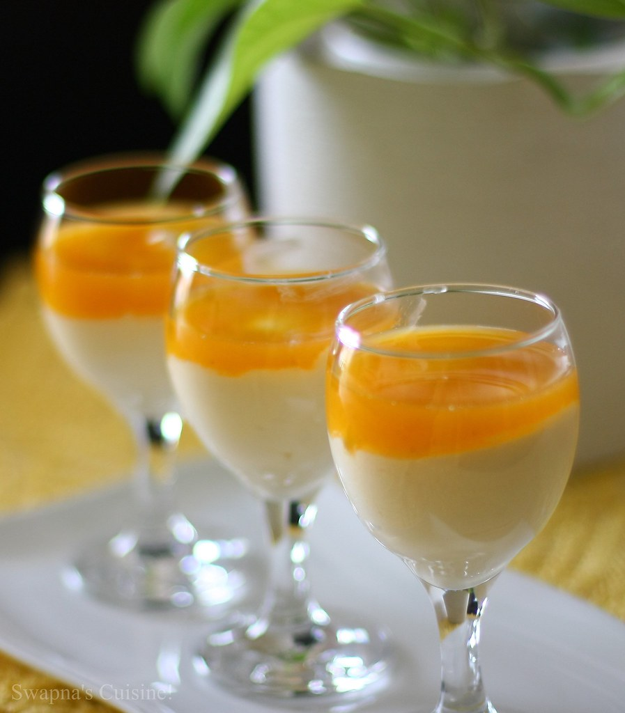 White Chocolate Mousse with Passion Fruit by Swapna's Cuisine