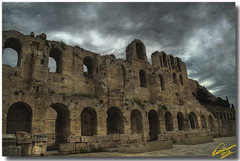 Odeon of Herodes Atticus ... HDR (Emil9497 Photography & Art) Tags: ancient hellas athens greece hdr akropolis d90 nikond90 3xphdr mygearandme emilathanasiou herodiondetail emil9497photgraphyart