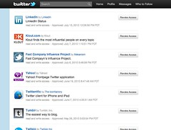 Twitter: Revoke access page