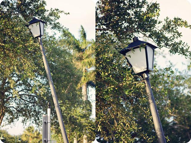 leaning streetlight diptych