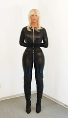 Tight Affair (Gabriela Winter) Tags: shiny waist tight catsuit cincher