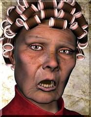Old Lady (Lilly die Heulsuse) Tags: old portrait lady poser 3d alt portrt curler dame daz lockenwickler