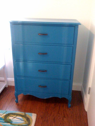 RP Peacock Blue Dresser Painted For Weekday Girls Thenest
