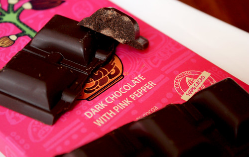 Dark Chocolate with Pink Pepper
