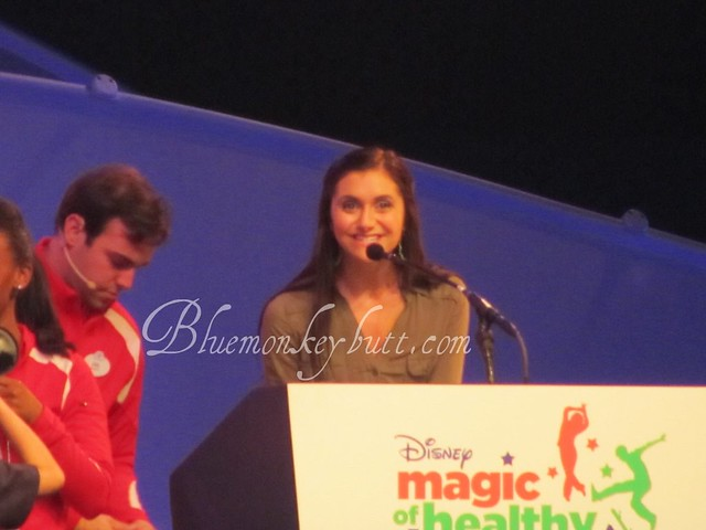 Alyson Stoner speaking at the Magic of Healthy Living Event