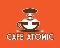 Cafe Atomic - Final (Jordan.A.) Tags: orange brown coffee logo typography design graphicdesign cafe coffeecup explosion illustrator coffeehouse atomic branding saucer designers logodesign adobeillustrator mushroomcloud commercialdesign cafeatomic businessdesign illustratorcs5 mocklogo