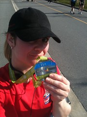 My shiny new 8 km medal