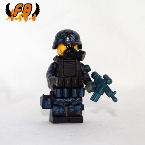 Custom minifig Modern Warrior - Cave Specialist