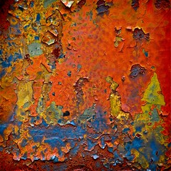 Abstract (StephenReed) Tags: abstract color art metal rust paint abstractart flakingpaint nikond80 stephenreed