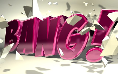 "C4D ""Bang"" typography"