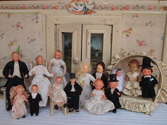 1920s to 1950s bridal couples dolls