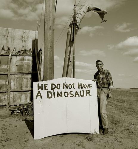 Steve Fitch, Snakepit Operator, Highway 66, Sayre, Oklahoma, 1973