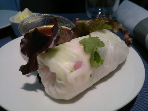 Vegetarian Spring Roll with Ginger Soy Sauce