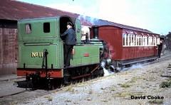 S0577 BP 2-4-0T No.11 Maitland @ Ramsey Station, IOM July 1967 (davidncooke_686) Tags: uk man station train railway steam locomotive ng gauge isle narrow iom