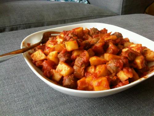 Sausage tomato hash