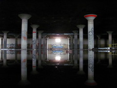 Kink Reflection (jedimind0421) Tags: chicago reflection water graffiti factory candy reflect abandon graff ld kink brach aom chicagoist brachs