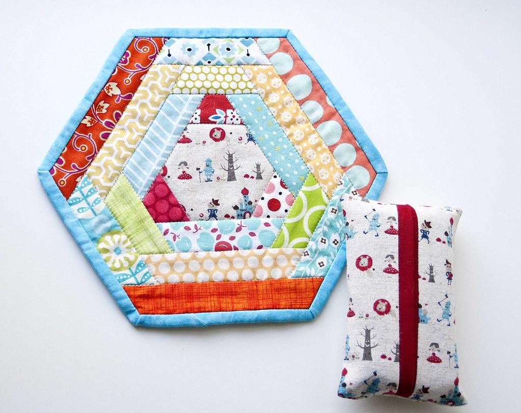 Hexagon Mug Rug - Round 4