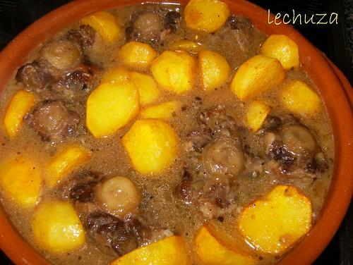 Rabo de ternera-añadir patatas