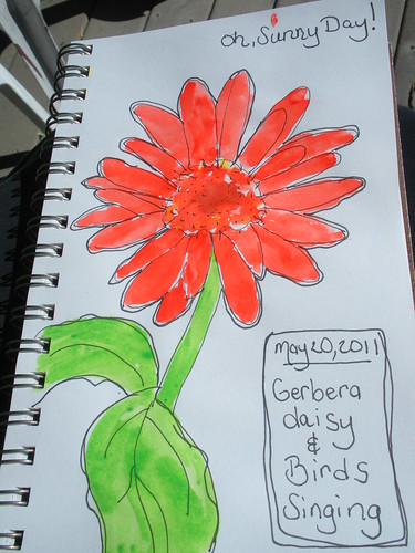Watercolor Daisy Nature Journal