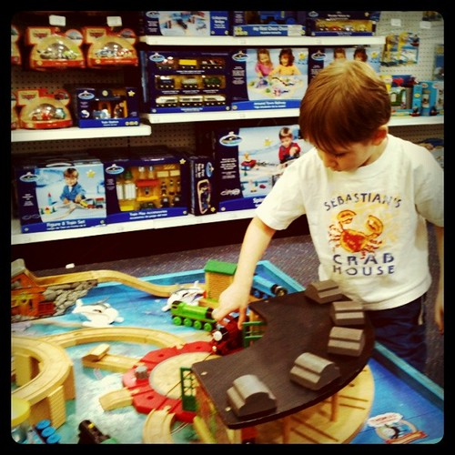 Playing at Toys R' Us