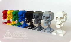 Lego Skull Instructions - Build Your Own (Choking Hazards) Tags: colors skull lego instructions chokinghazards