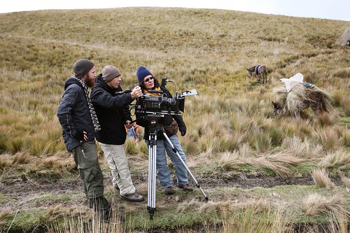 Shooting specialized shots at the base of Chimborazo.