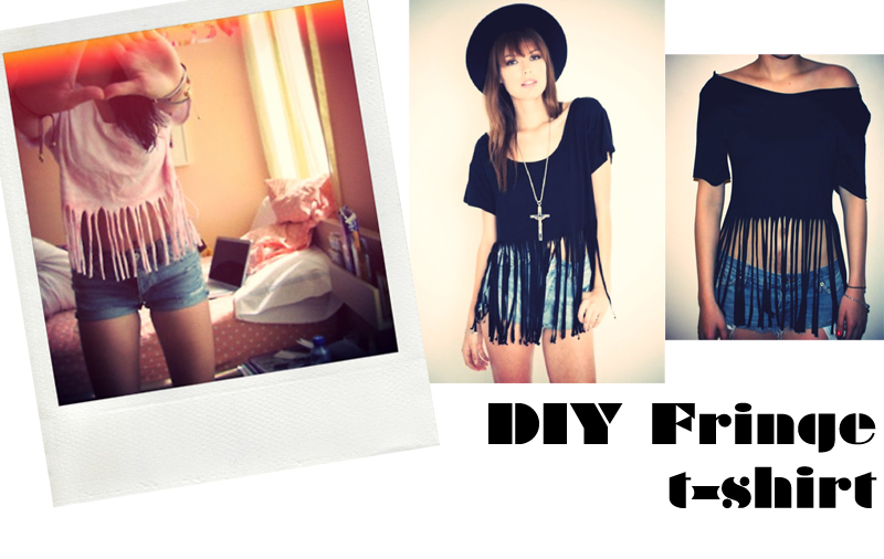 DIY fringe t-shirt