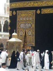 The Ka'aba (Batool Nasir) Tags: travel black editorial saudiarabia allrightsreserved makkah muqaameibrahim batoolnasir umrahfebruary2011