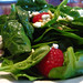 Spinach and raspberry salad