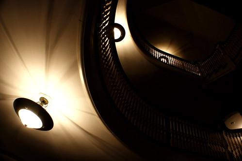 spiraling up.