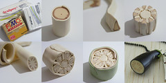 Making an Aubergine Cane