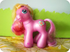 My Little Pony found at the thrift (bewitchedmagic) Tags: pink heart mark cutie picnik mlp mylittlepony thift