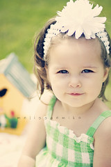 Hello, Beautiful! (fireeyes015) Tags: portrait baby white cute green girl smile toddler soft child dress daughter 85mm dreamy florabella